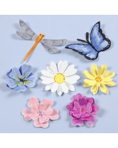 Punched-out Insects and Flowers with a 3D Effect