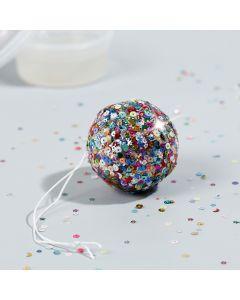 A mini Disco Ball with Sticky Base