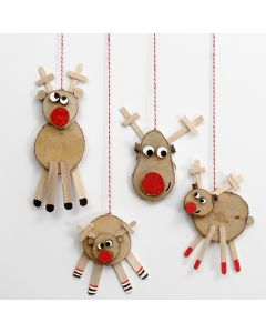 Reindeer made from wooden Discs