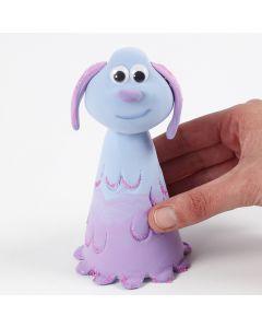Lu-La from the Shaun the Sheep movie Farmageddon modelled from Silk Clay