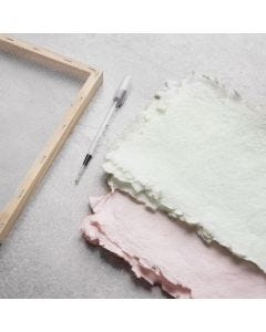 How to make handmade paper dyed with art aqua liquid watercolour