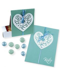 An Invitation and Box with Filigree Paper Hearts