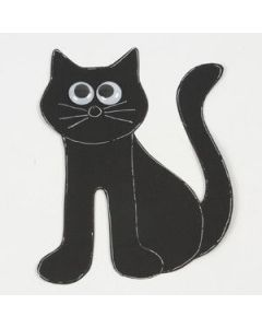 A Black Cat made from Card
