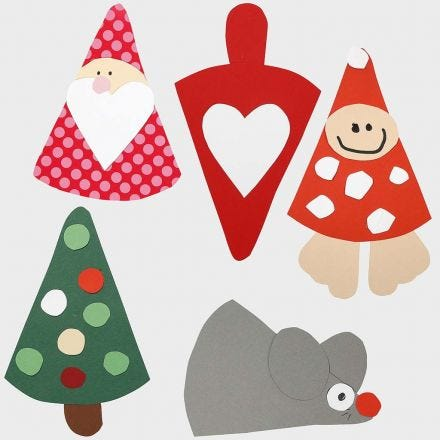 Christmas Decorations – Figures made from a flexible template