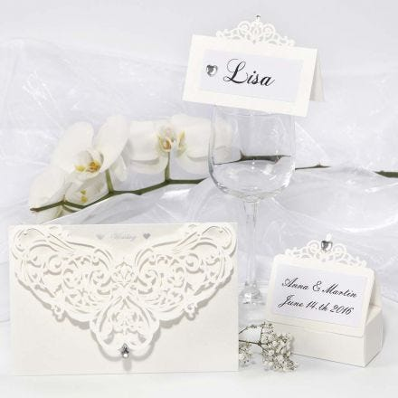 Decorated Filigree Greeting Cards, Place Cards & Table Decoration