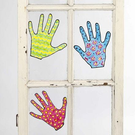 Removable painted Designs for Windows