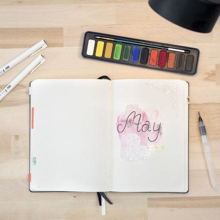 A Bullet Journal with Watercolours