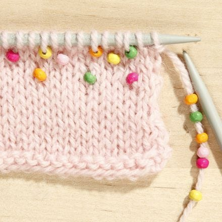 How to knit with Beads