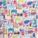 Gift wrap, zoo, W: 70 cm, 80 g, 4 m/ 1 roll