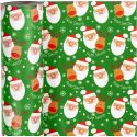 Gift wrap, Santa with reindeer, W: 57 cm, 80 g, 150 m/ 1 roll