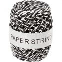 Paper String, thickness 1 mm, black/white, 50 m/ 1 roll