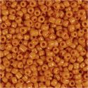 Rocaille Seed Beads, D: 3 mm, size 8/0 , hole size 0,6-1,0 mm, orange, 25 g/ 1 pack