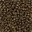 Rocaille Seed Beads, D: 3 mm, size 8/0 , hole size 0,6-1,0 mm, bronze, 25 g/ 1 pack