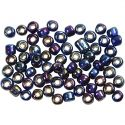 Rocaille Seed Beads, D: 4 mm, size 6/0 , hole size 0,9-1,2 mm, blue oil, 500 g/ 1 pack