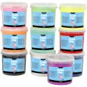 Foam Clay®, glitter, assorted colours, 10x560 g/ 1 pack