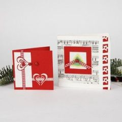 Christmas Cards with punched-out Decorations