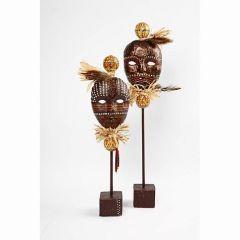 African Masks on a Stick
