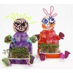 Cheerful spring-fresh cress children