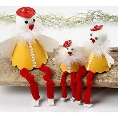 Cone Chicks for the Book Shelf