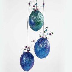 Metallic Eggs with Beads