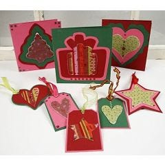 Christmas Cards and Tags made from Card and Felt