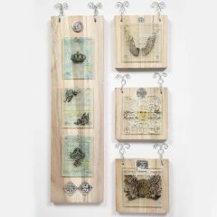 Wood Icons with Glass Plates