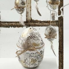 Eggs with Decoupage Paper