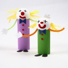 A Clown made from Corrugated Board