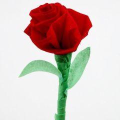 A Crepe Paper Rose