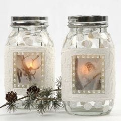 A Lantern with 3D Snow Effect