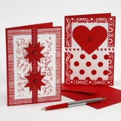 Christmas Cards decorated with  Handmade Paper