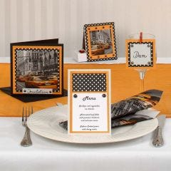 A Greeting Card with a New York Napkin Design