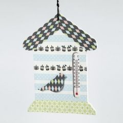 A Thermometer House decorated with Masking Tape