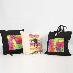 Shopping Bags decorated with Textile Color, neon