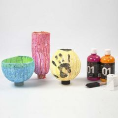 Vases made from Gauze Bandages on Balloons