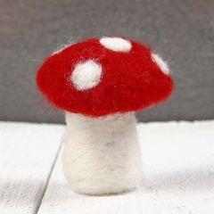 A Felted Mushroom