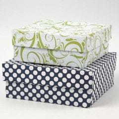 Boxes covered with Design Paper (the London series)
