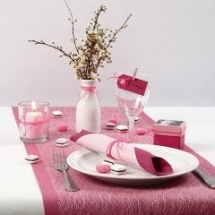 Pink, rose and white Table Decorations