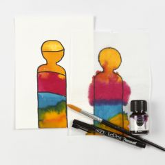 Painting with liquid Watercolour