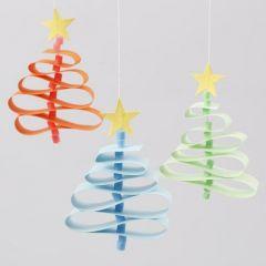 Christmas Trees from Paper Star Strips & Nabbi Bead Tree Trunks