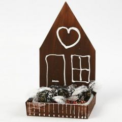 A Gingerbread House from a painted Cress Tray