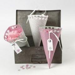 Vivi Gade Design Paper Cones with Lace