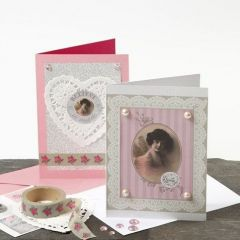 Happy Moments Greeting Cards with romantic Vivi Gade Decorations