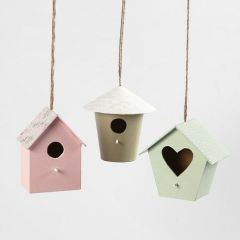 Decorative Bird Boxes decorated with Design Paper and Paint