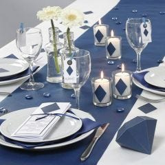 Happy Moments blue Table Decorations and Menu Card