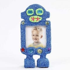 A Robot Photo Frame covered with Foam Clay