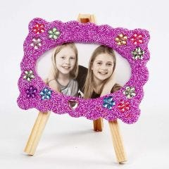 A standing Frame decorated with Foam Clay and Rhinestones