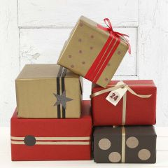 Gold, red and black Gift Wrapping