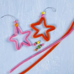 Stars made from coloured Pipe Cleaners