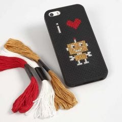 A Mobile Phone Case with Embroidery